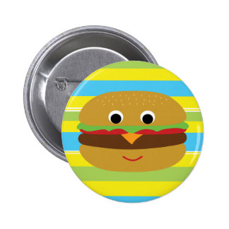 Retro Cheeseburger Pinback Buttons