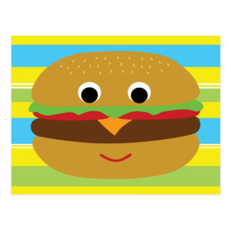 Retro Cheeseburger Postcard