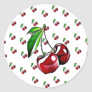 Retro Cherries Cute Girlie Stickers