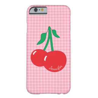Retro Cherries Gingham iPhone 6/6S Case