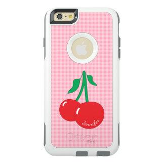 Retro Cherries Gingham iPhone 6/6S Plus Case