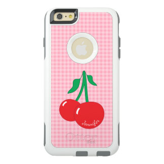 Retro Cherries Gingham iPhone 6 Plus Case
