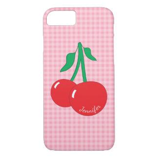 Retro Cherries Gingham iPhone 8/7 Case