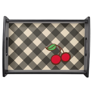 Retro Cherry Gingham Snack Tray Gift