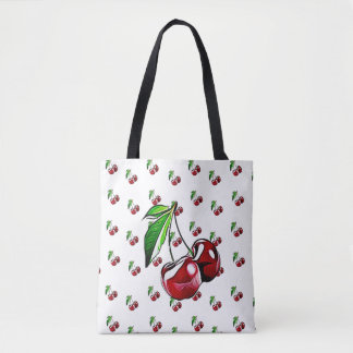 Retro Cherry Tote Bags