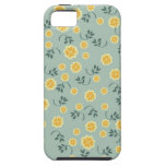 Retro chic buttercup floral flower girly pattern iPhone 5 case