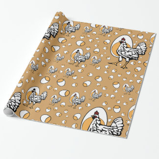Retro Chickens Wrapping Paper
