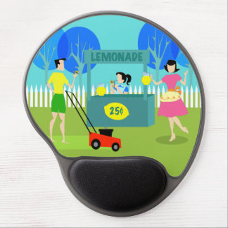 Retro Children's Lemonade Stand Gel Mousepad