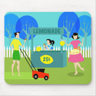 Retro Children's Lemonade Stand Mousepad