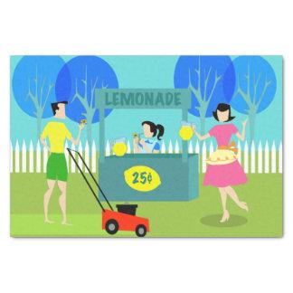 Retro Children's Lemonade Stand Tissue Paper