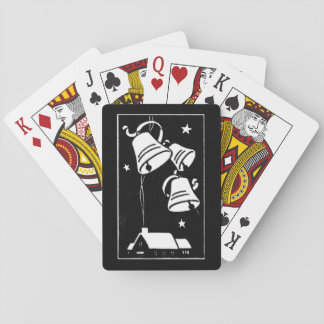 Retro Christmas Bells and House Playing Cards
