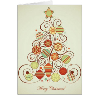 Retro Christmas Stationery Note Card