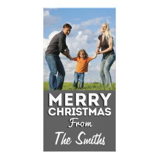 Retro Christmas Card Photo Greeting Card