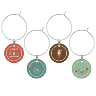 Retro Christmas Cheer! Wine Charm
