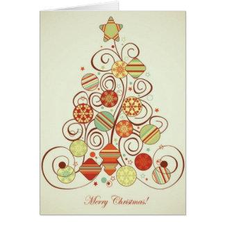 Retro Christmas Note Card