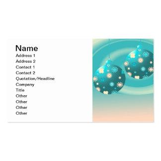 Retro Christmas Ornament Business Card