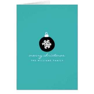 Retro Christmas Ornament Card