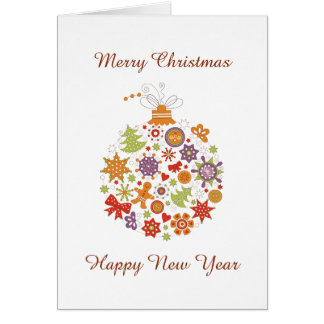 Retro Christmas Ornament Christmas Greeting Card