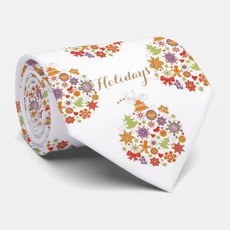 Retro Christmas Ornament Men's Tie