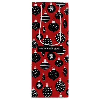 Retro Christmas Ornaments Wine Gift Bag