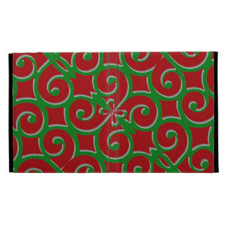 Retro Christmas Pattern iPad Folio Case