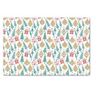 Retro Christmas Pattern Tissue Paper