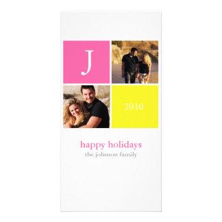 Retro Christmas Custom Photo Card