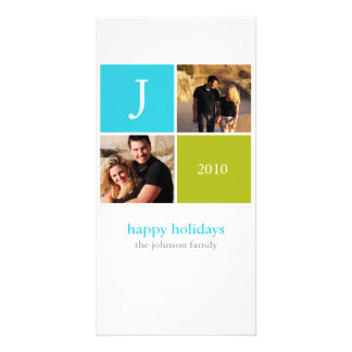 Retro Christmas Photo Greeting Card