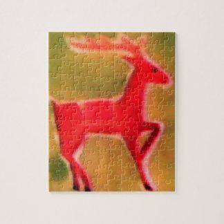 Retro Christmas Reindeer Puzzle