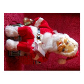 Retro Christmas Santa Claus Toy Postcard