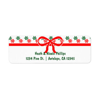 Retro Christmas Star Vintage Address Labels