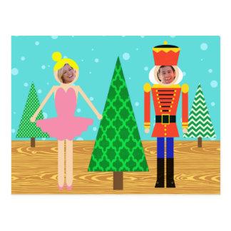 Retro Christmas Toy Parade Photo Postcard