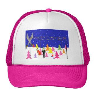 Retro Christmas Tree Farm Trucker Hat