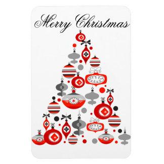 Retro Christmas Tree Vinyl Magnets