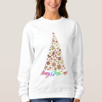 Retro Christmas Tree Women's Basic Sweatshirt