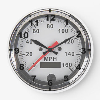 """Retro chrome speedometer"" design wall clocks"
