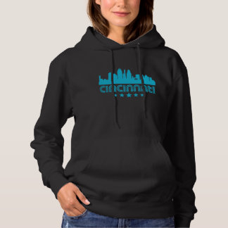 Retro Cincinnati Skyline Hoodie