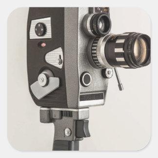 Retro Cinema camera Square Sticker