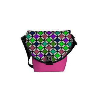 Retro Circle Pattern in Vibrant Colors Messenger Bag
