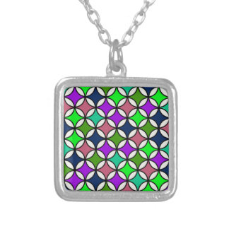 Retro Circle Pattern in Vibrant Colors Custom Jewelry