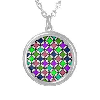 Retro Circle Pattern in Vibrant Colors Pendant