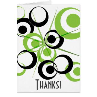 Retro Circle pattern Thanks! Note Card