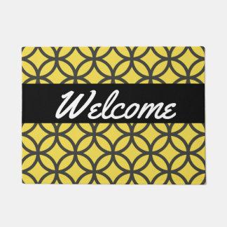 Retro Circle Pattern Welcome Doormat
