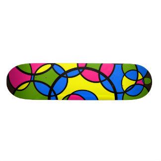 Retro Circles 21.6 Cm Old School Skateboard Deck