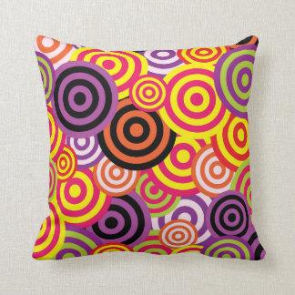 Retro Circles 60's Pattern Cushion