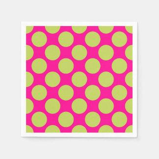 Retro Circles 60's Pattern Disposable Serviette