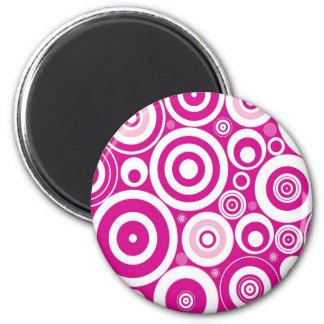Retro Circles 6 Cm Round Magnet