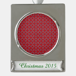 Retro Circles a Go-Go Silver Plated Banner Ornament