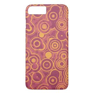 Retro Circles Grunge Pattern iPhone 7 Plus Case