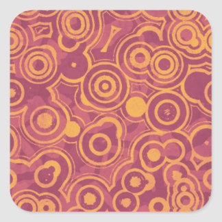 Retro Circles Grunge Pattern Stickers